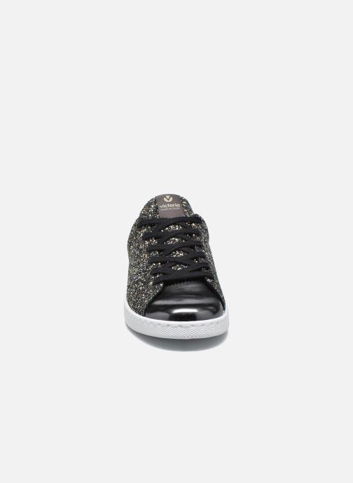 Baskets Victoria Deportivo Plateform Glitter Noir vue portées chaussures