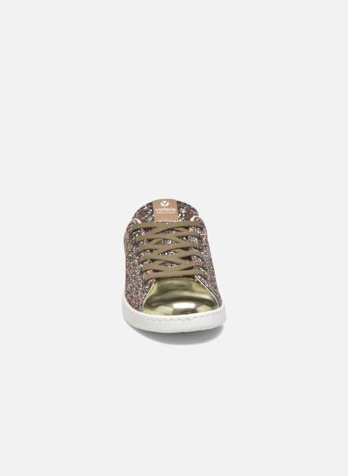 Baskets Victoria Deportivo Plateform Glitter Multicolore vue portées chaussures
