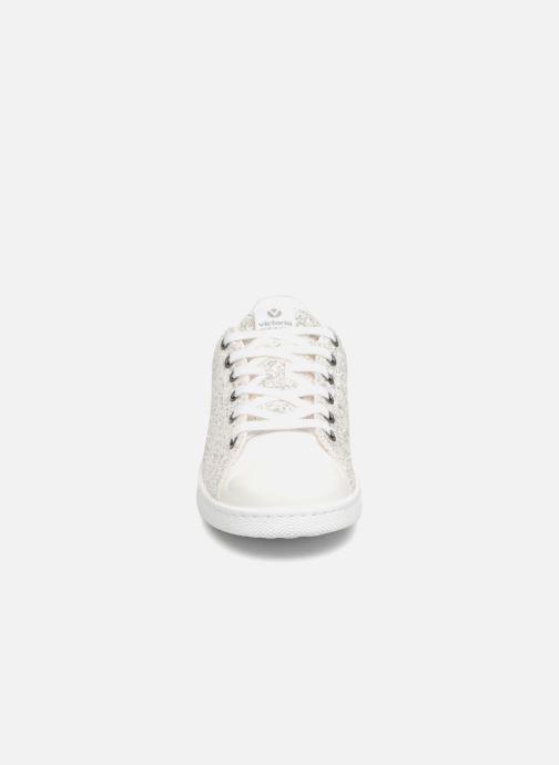 Baskets Victoria Deportivo Plateform Glitter Argent vue portées chaussures