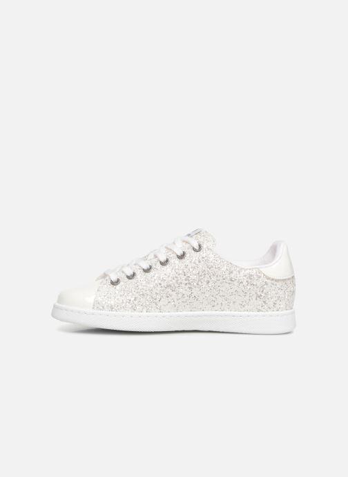 Sneaker Victoria Tenis Glitter W silber ansicht von vorne