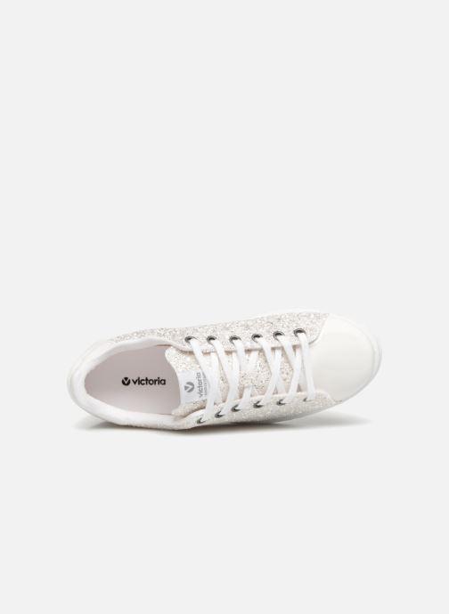 Sneaker Victoria Tenis Glitter W silber ansicht von links
