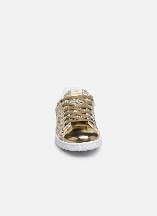 Baskets Victoria Deportivo Plateform Glitter Or et bronze vue portées chaussures