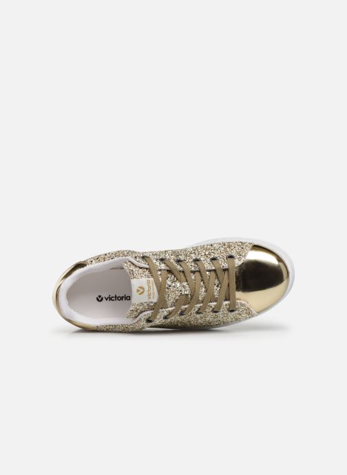 Sneakers Victoria Deportivo Plateform Glitter Goud en brons links