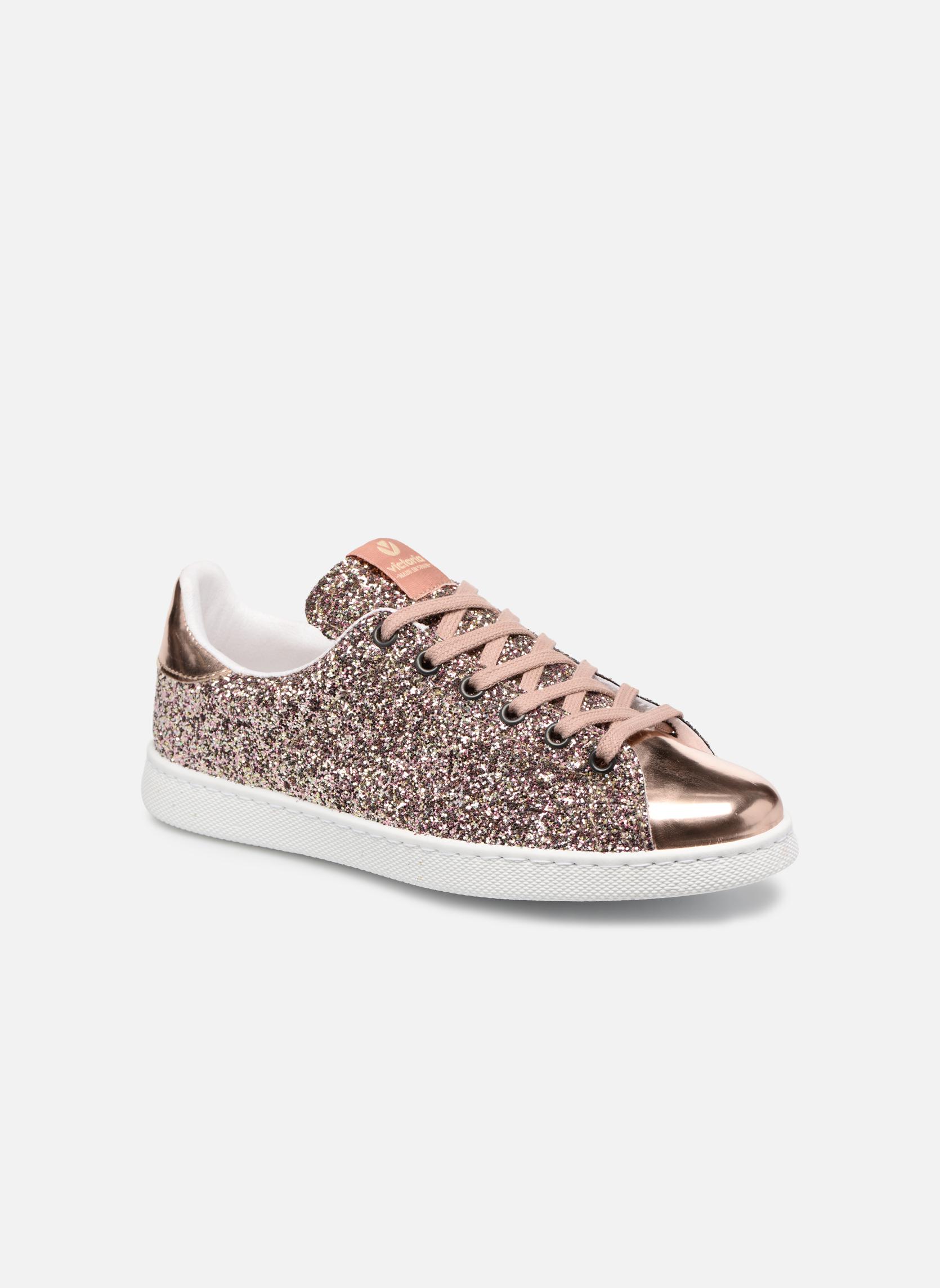 Sneaker Damen Deportivo Plateform Glitter