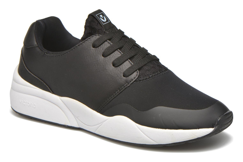 Deportivas Victoria Sneakers neopreno Negro vista de detalle / par