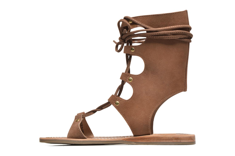 Sandals Les Tropéziennes par M Belarbi Baktal Brown front view
