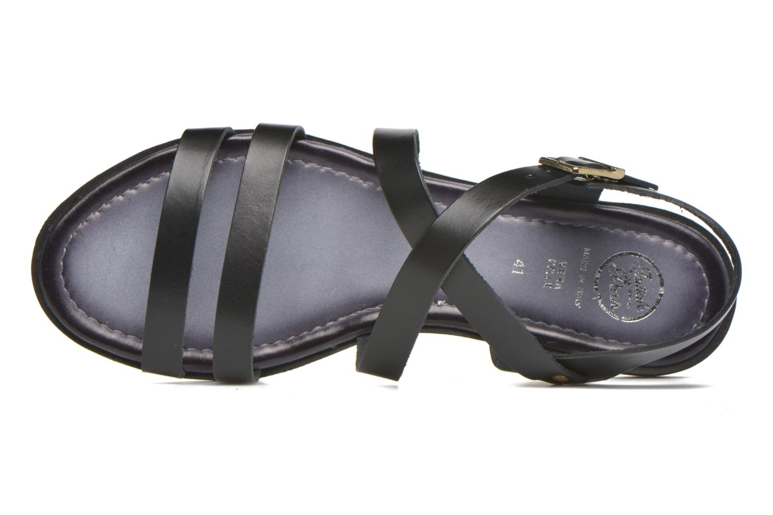 Sandals Initiale Paris Henane Black view from the left