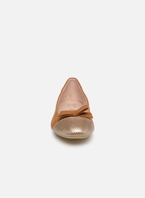 Ballerines Initiale Paris Scala Marron vue portées chaussures