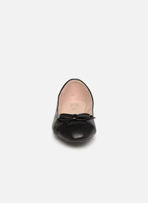 Ballerines Initiale Paris Scala Noir vue portées chaussures