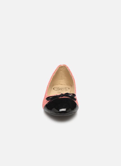 Ballerines Initiale Paris Scala Rose vue portées chaussures