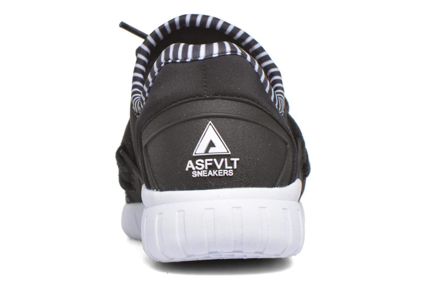 Trainers Asfvlt Area Low W Black view from the right