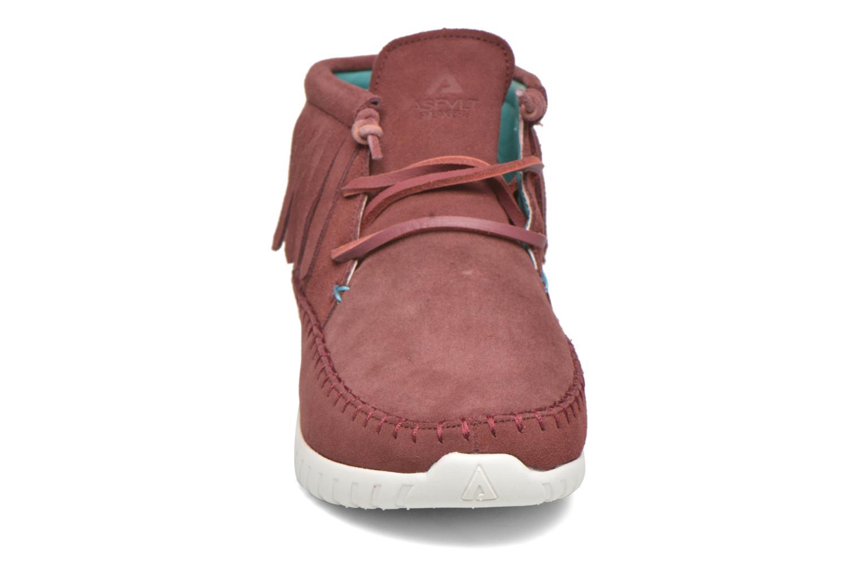 Baskets Asfvlt Apache Rouge vue portées chaussures