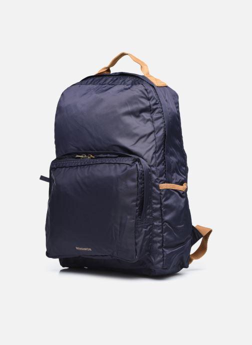 Sacs à dos Bensimon Backpack Bleu vue portées chaussures