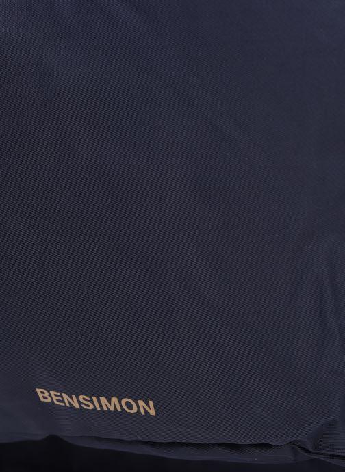 Mochilas Bensimon Backpack Azul vista lateral izquierda