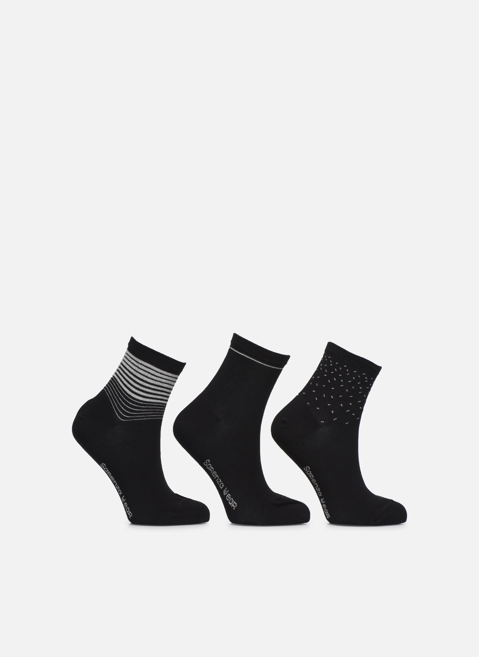 Socks & tights Sarenza Wear Chaussettes lurex Pack de 3 Femm… Black detailed view/ Pair view