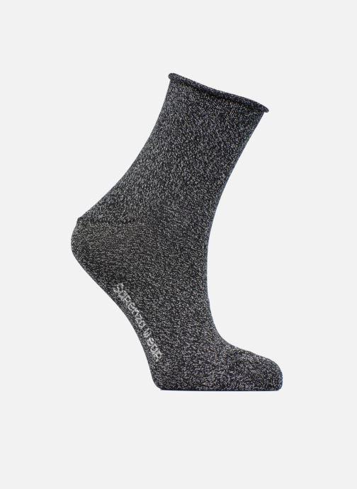 Sokken en panty's Sarenza Wear Chaussettes lurex Femme Coton / Lurex Zwart detail