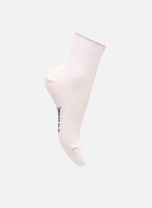Chaussettes et collants Sarenza Wear Chaussettes lurex Femme Coton / Lurex Rose vue détail/paire