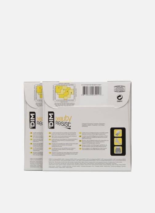 Strømper og tights Dim Collant Beauty Resist transparant Pack de 2 Sort se bagfra