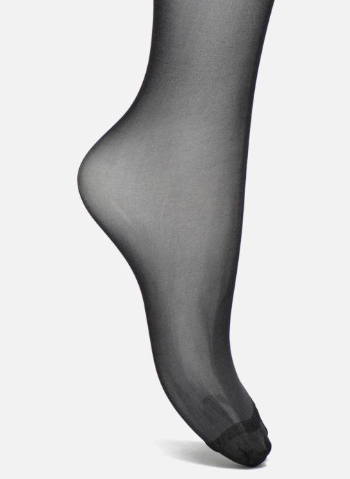Strømper og tights Dim Collant Beauty Resist transparant Pack de 2 Sort se fra venstre
