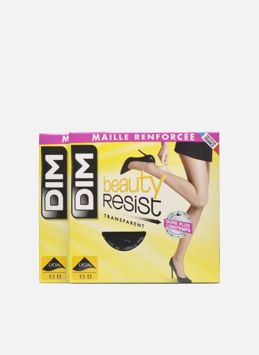 Strømper og tights Dim Collant Beauty Resist transparant Pack de 2 Sort detaljeret billede af skoene