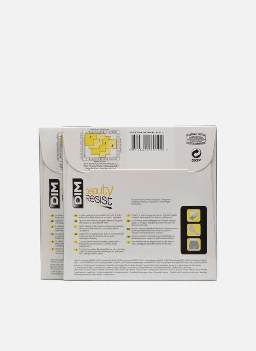 Strumpor och strumpbyxor Dim Collant Beauty Resist transparant Pack de 2 Färglös bild från baksidan