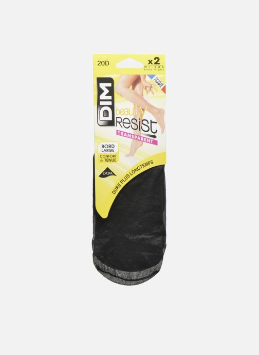 Sokken en panty's Dim Mi-bas Beauty Resist transparent x2 Zwart detail