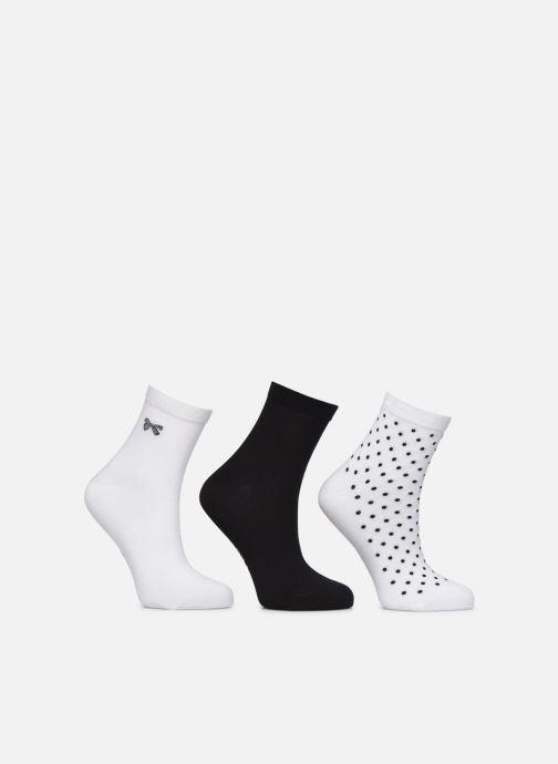 Chaussettes et collants Dim Socquettes Pois & Noeuds Pack de 3 Noir vue détail/paire