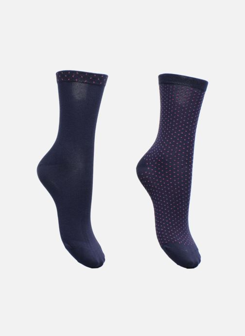 Sokken en panty's Dim Chaussettes Plumetis Pack de 2 Blauw detail