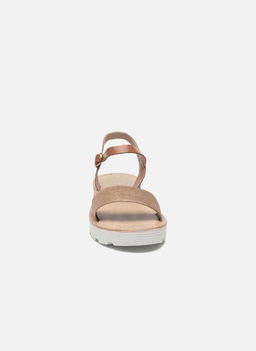 Sandales et nu-pieds L'Atelier Tropézien Guillemette Or et bronze vue portées chaussures