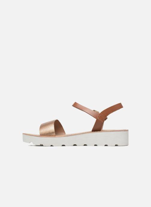 Sandales et nu-pieds L'Atelier Tropézien Guillemette Or et bronze vue face