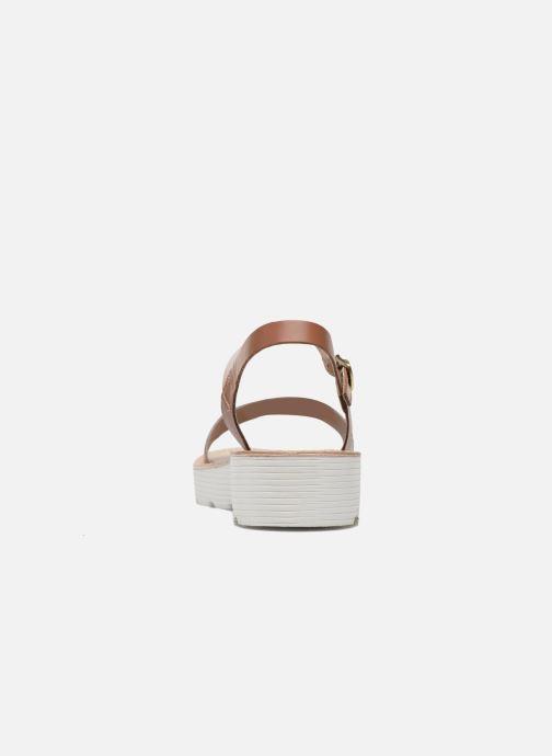 Sandales et nu-pieds L'Atelier Tropézien Guillemette Or et bronze vue droite