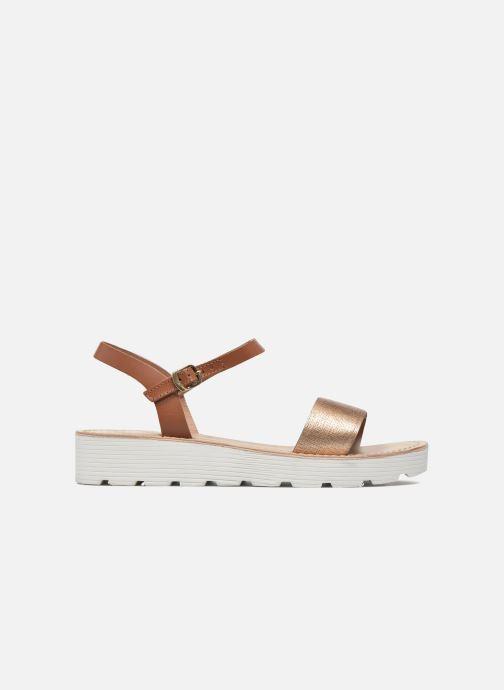 Sandales et nu-pieds L'Atelier Tropézien Guillemette Or et bronze vue derrière