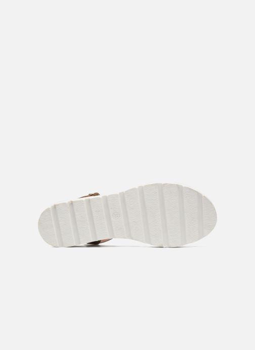 Sandales et nu-pieds L'Atelier Tropézien Guillemette Or et bronze vue haut