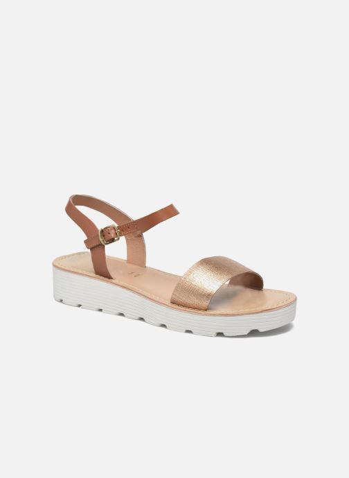 Sandales et nu-pieds L'Atelier Tropézien Guillemette Or et bronze vue détail/paire