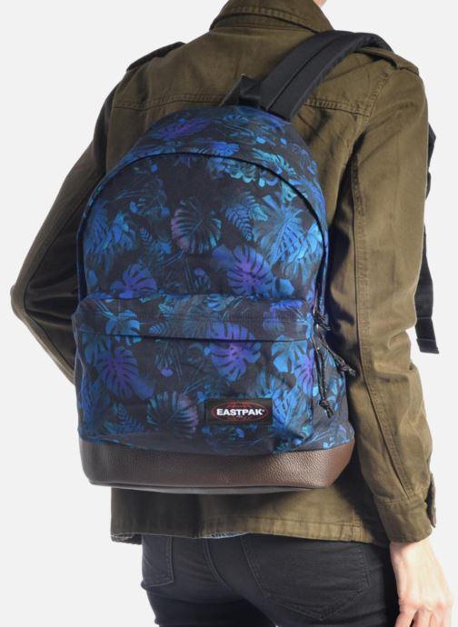 Sacs à dos Eastpak WYOMING Sac à dos toile Bleu vue bas / vue portée sac