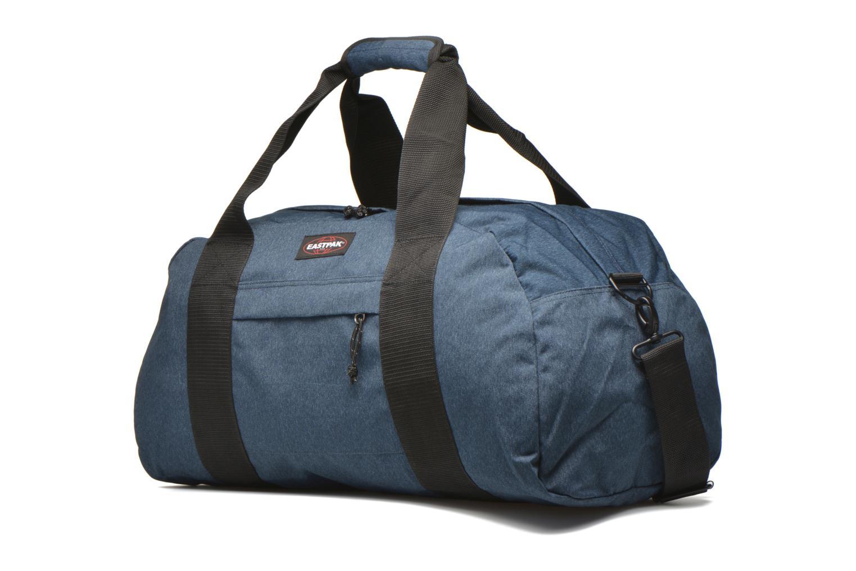 Reisegepäck Eastpak STATION Sac de voyage blau schuhe getragen