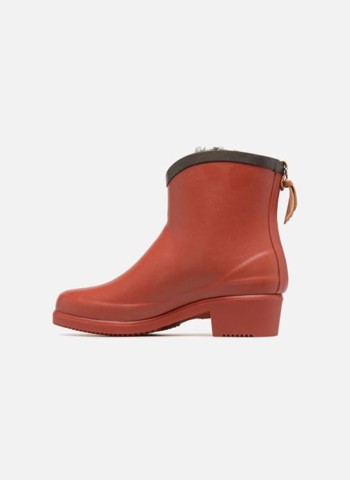 Ankle boots Aigle Ms Jul Bot Fur Red front view