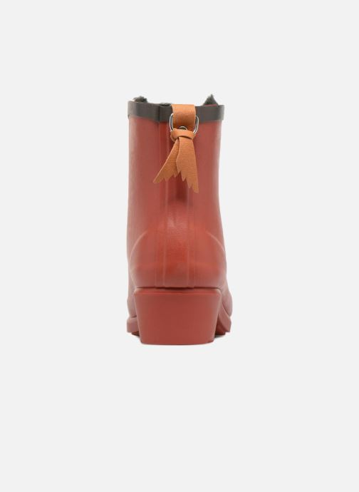 Ankle boots Aigle Ms Jul Bot Fur Red view from the right