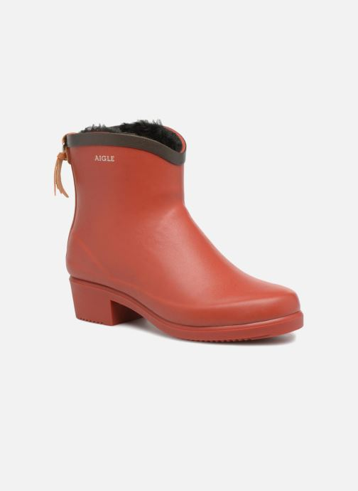 Ankle boots Aigle Ms Jul Bot Fur Red detailed view/ Pair view