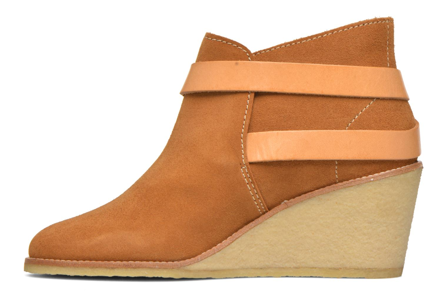 Ankle boots Aigle Diligan Brown front view