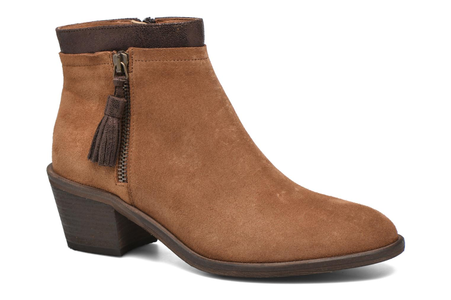 Ankle boots Schmoove Woman Neptune zip boots Brown detailed view/ Pair view