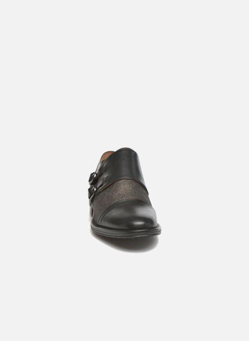 Mocassins Schmoove Woman Newton sauvage Noir vue portées chaussures