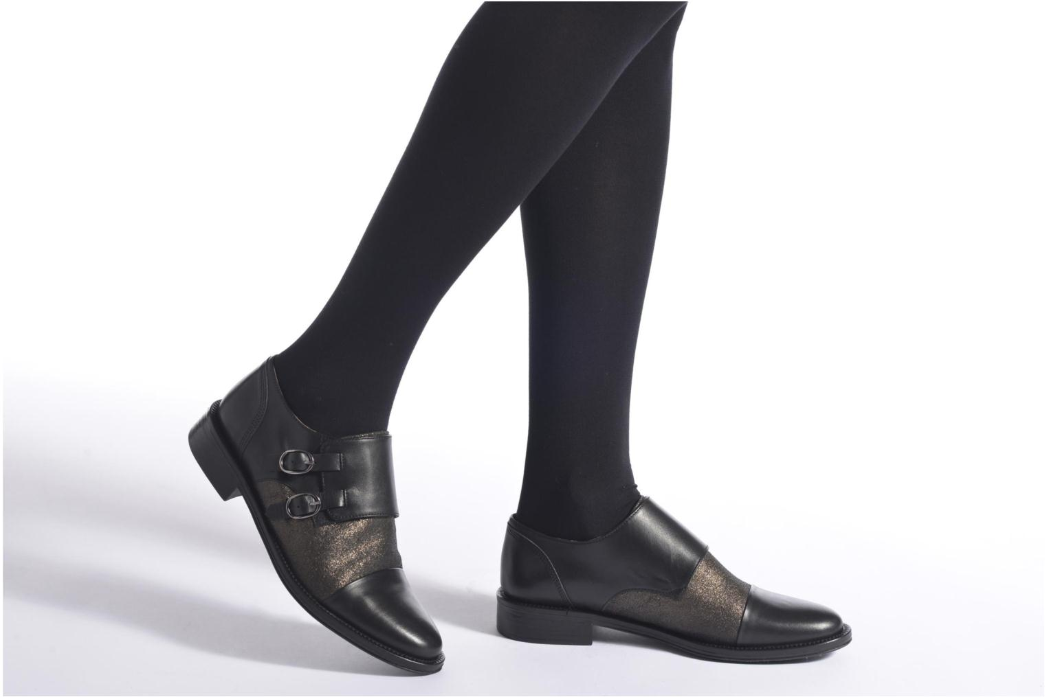 Loafers Schmoove Woman Newton sauvage Black view from underneath / model view