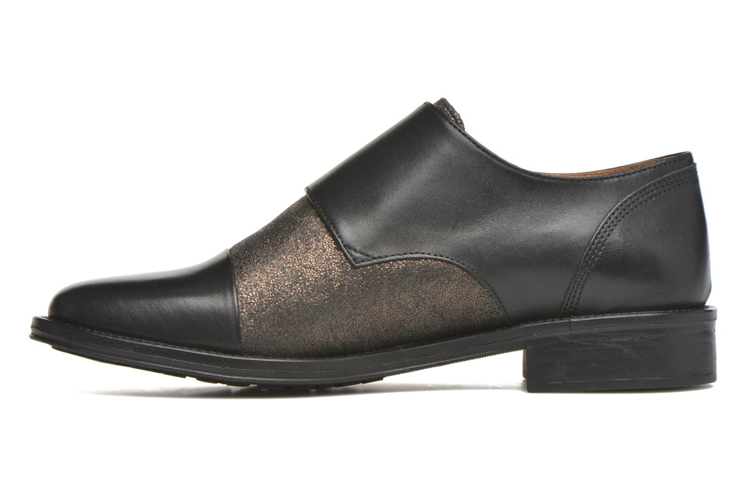 Mocassins Schmoove Woman Newton sauvage Noir vue face