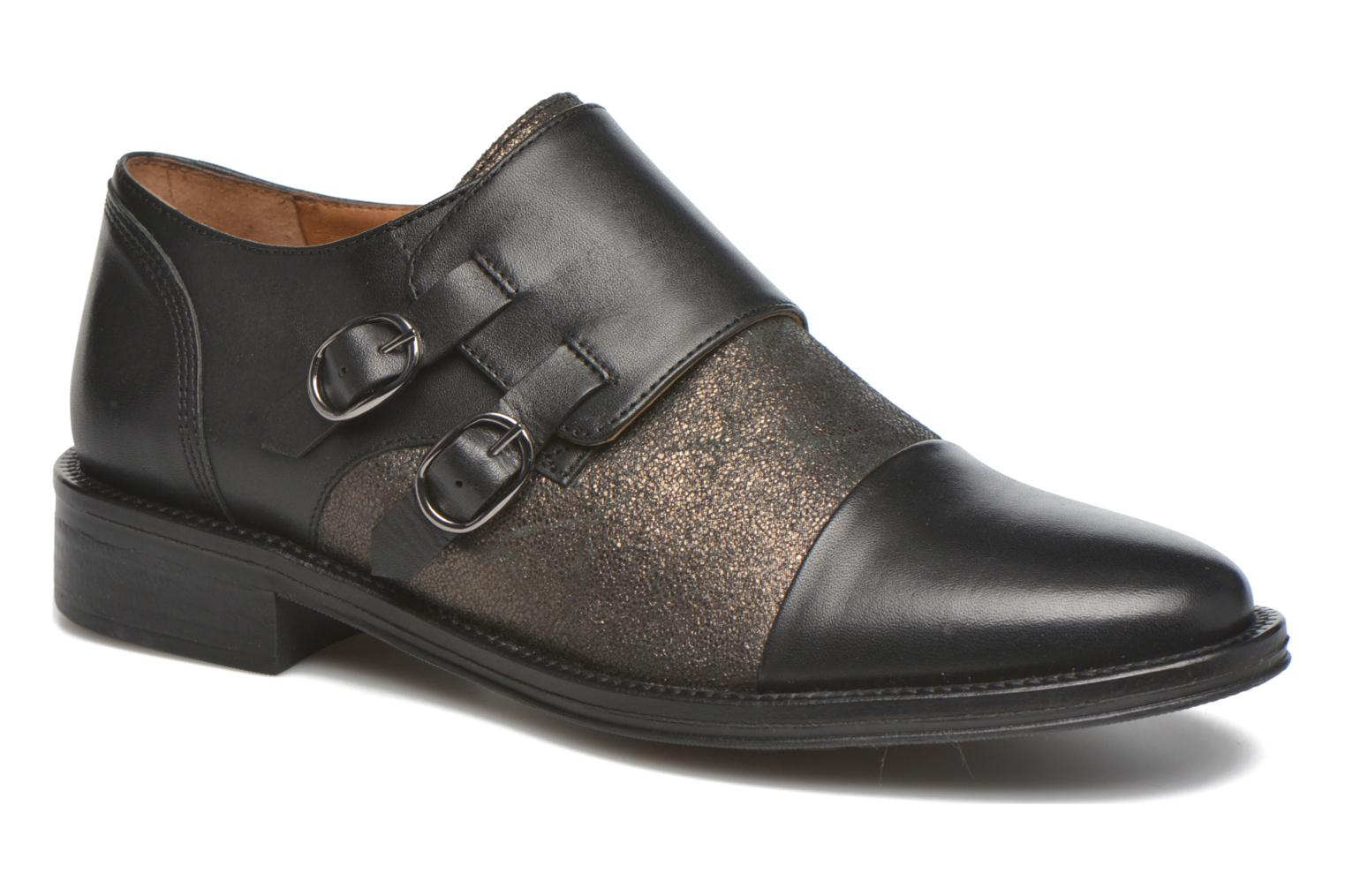 Loafers Schmoove Woman Newton sauvage Black detailed view/ Pair view