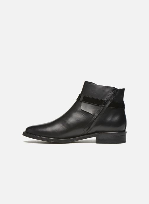 Bottines et boots Schmoove Woman Newton buckle Noir vue face