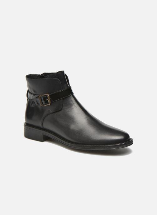 Bottines et boots Schmoove Woman Newton buckle Noir vue détail/paire