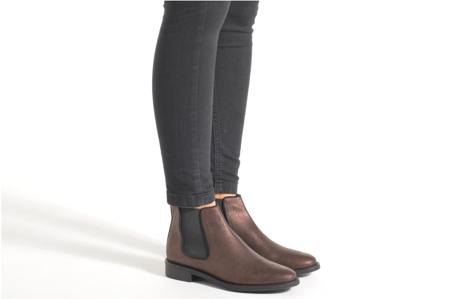 Ankle boots Schmoove Woman Newton chelsea trento Purple view from underneath / model view
