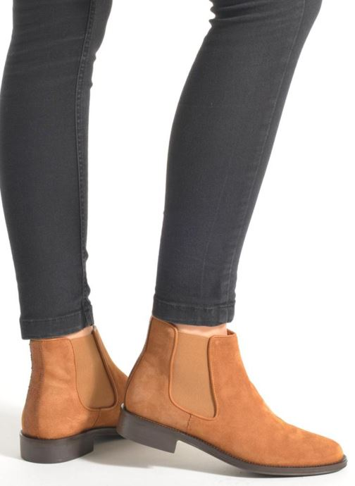 Bottines et boots Schmoove Woman Newton chelsea suede Marron vue bas / vue portée sac