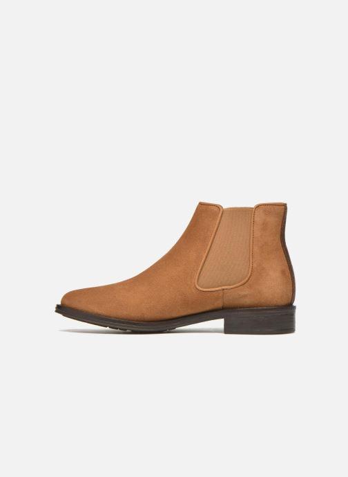 Bottines et boots Schmoove Woman Newton chelsea suede Marron vue face
